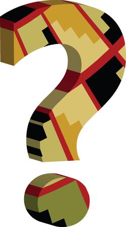 Kleurrijk driedimensioneel VRAAGTEKEN Symbool
