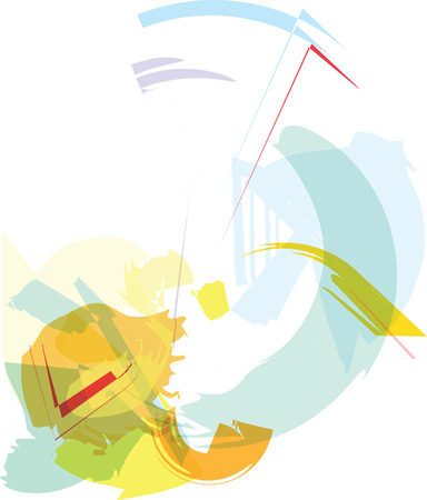 Trendy colorful transparent shapes abstract background illustration Ilustrace