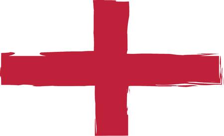 british culture: Grunge England flag or banner vector illustration