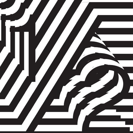 symbol. punctuation: Black and white design symbol template vector illustration