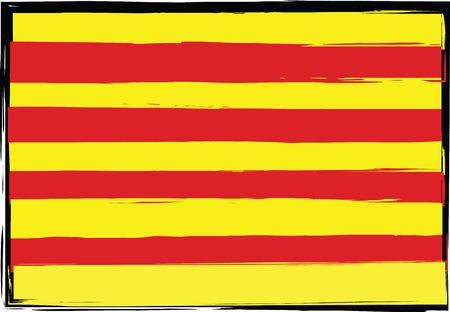 Grunge flag. Stock Illustratie