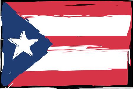Grunge PUERTO RICO flag.