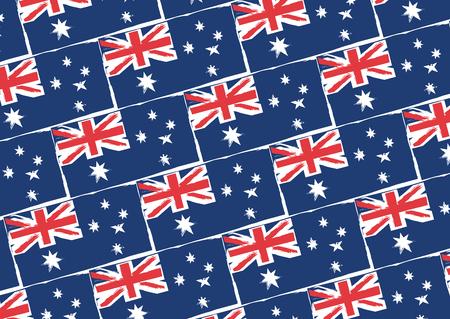 abstract AUSTRALIAN flag or banner vector illustration Çizim
