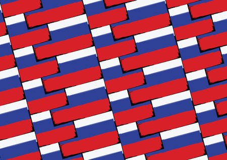 Drapeau de Russie grunge ou bannière vector illustration.