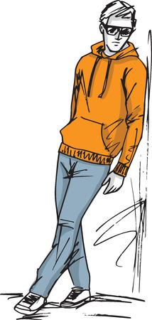 Illustration de croquis de mode de l'homme