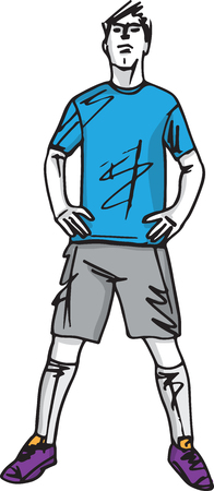 Fashion sketch illustration of man