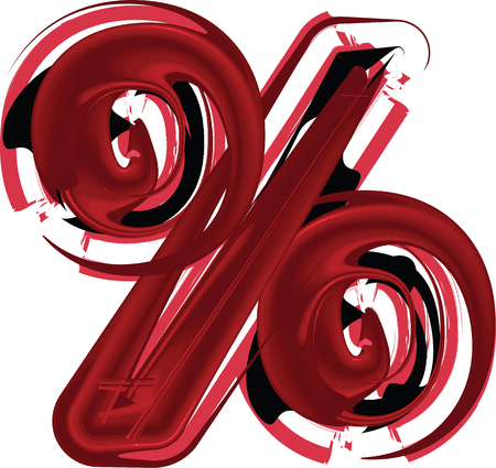 Abstract vector illustration drawing of percent Symbol