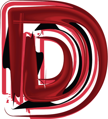 Abstract Letter D illustration Illustration