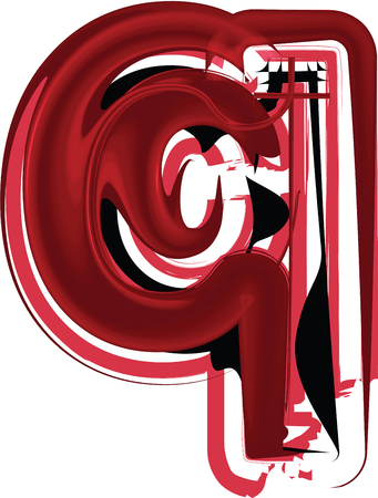 Abstract Letter q Illustration