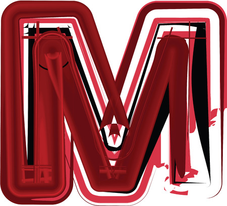 Abstract Letter M illustration