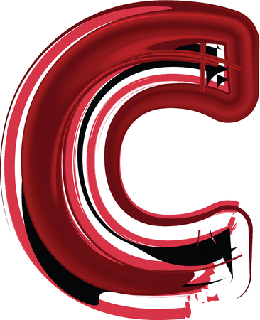 Abstract Letter C illustration