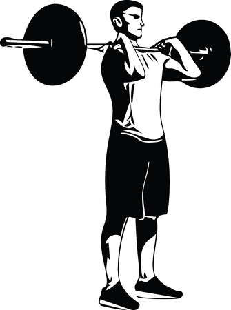 Weight lift workout at the gym