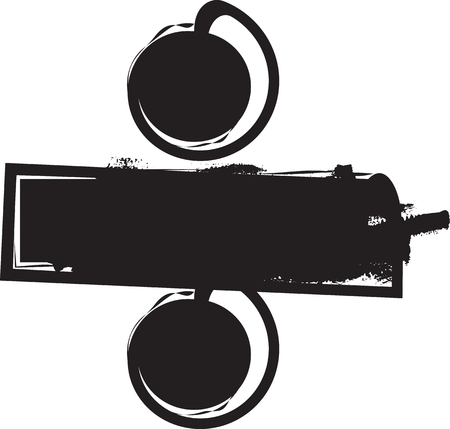 Abstract vector illustration dessin de diviser le symbole