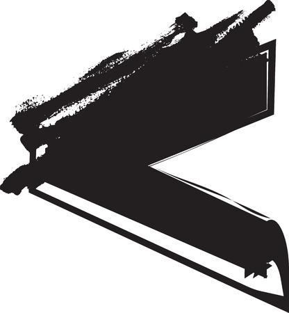Abstract vector illustration dessin de symbole