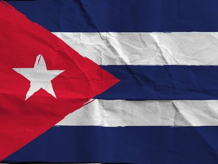 abstract CUBA flag or banner