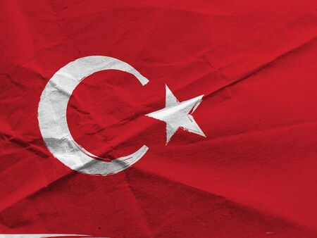 Grunge TURKEY flag or banner Stockfoto