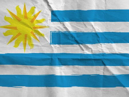 abstract URUGUAY flag or banner