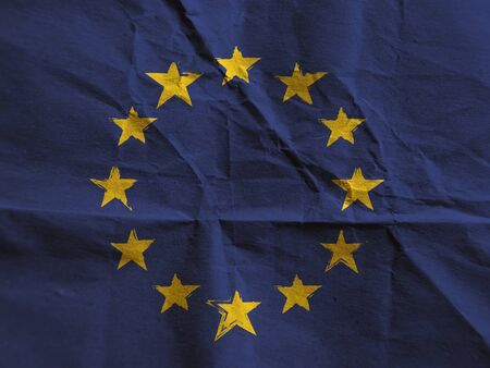 Grunge EUROPEAN UNION flag or banner