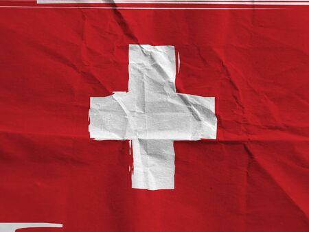 Grunge SWITZERLAND flag or banner