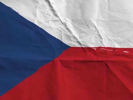 Grunge CZECH REPUBLIC flag or banner