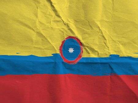 abstract COLOMBIA flag or banner 스톡 콘텐츠