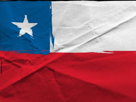 abstract CHILEAN flag or banner Фото со стока