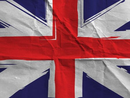 Grunge UK flag or banner Stockfoto