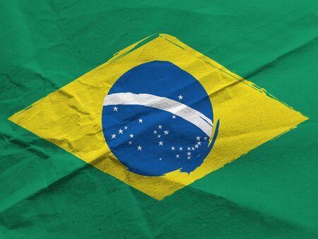 abstract BRAZILIAN flag or banner Фото со стока - 131338431