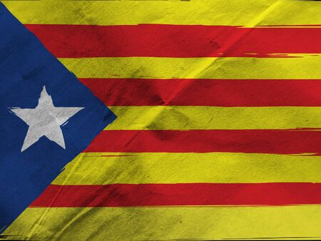 Grunge Catalonia flag or banner