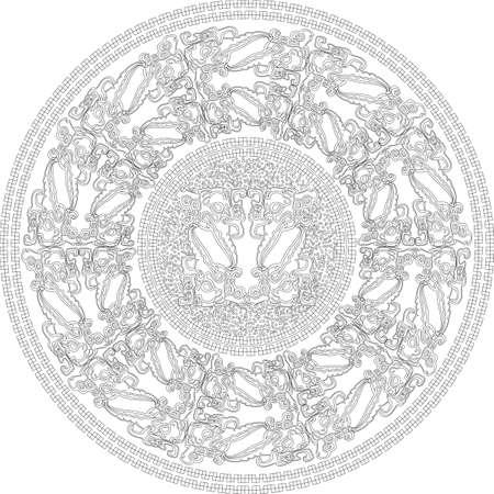 illustration of Ancient Background Vector illustration