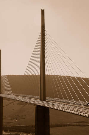 foster: Millau bridge more high world Norman Foster Stock Photo