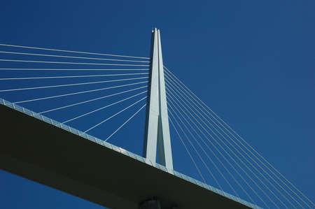 millau: Millau bridge more high world Norman Foster Stock Photo