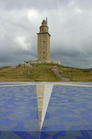 Hercules tower in Coruna Galicia Spain Lighthouse Stock Photo - 9251271