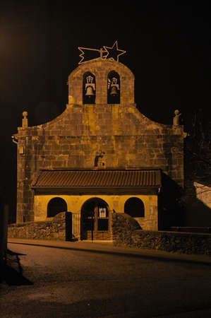 Chapel in christmas cantabria noth of spain