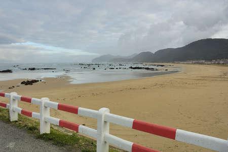 cantabria: Tregandin beach in Noja Cantabria in Spain Stock Photo