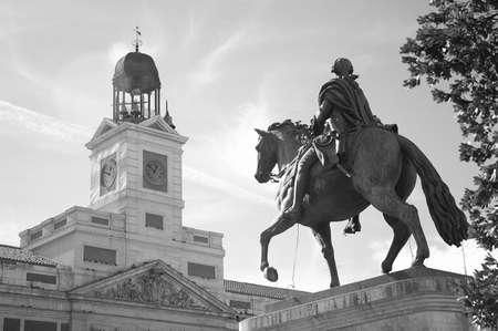 Puerta del Sol in Madrid in Spain