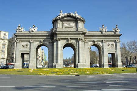 Puerta de Alcala door in Madrid Spain