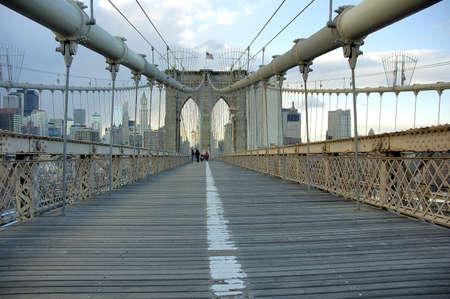 Brooklyn bridge in Manhattan city in New York United States America
