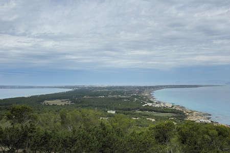 Formentera island in balearic islands in spain Stock Photo