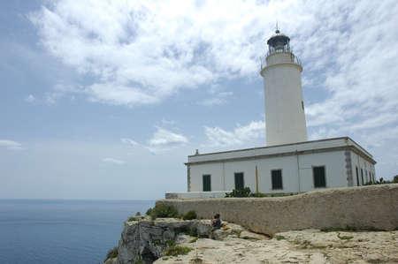La Mola Lighthouse in Formentera Balearic Island