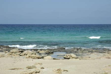 Beach in Formentera Balearic Island in Spain Stock Photo