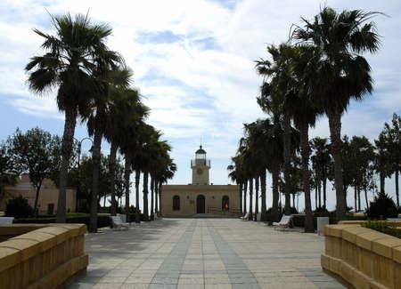 Lighthouse of Roquetas de Mar Almeria Andalucia Spain Stock Photo
