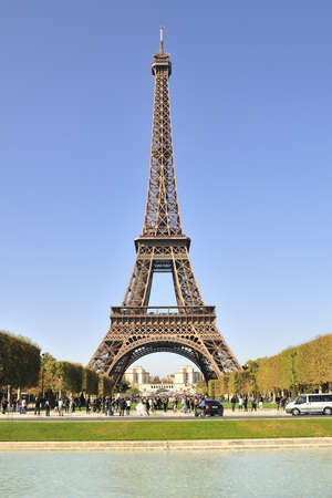 Eiffel tower is a one of the most recognizable structures in the world Stock Photo - 11109215