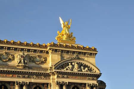 garnier: Opera Garnier is important construction in Paris Stock Photo