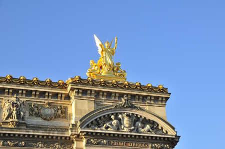 academie: Opera Garnier is important construction in Paris Stock Photo