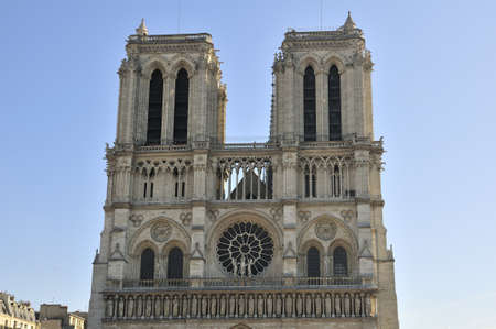 Notre Dame de Paris is a big Gothic cathedral Stock Photo - 13002464