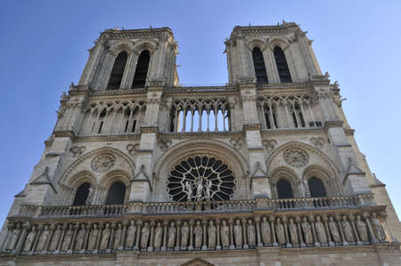 Notre Dame de Paris is a big Gothic cathedral Stock Photo - 13002552