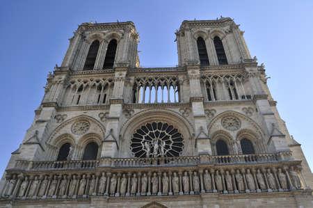 Notre Dame de Paris is a big Gothic cathedral Stock Photo - 13002552