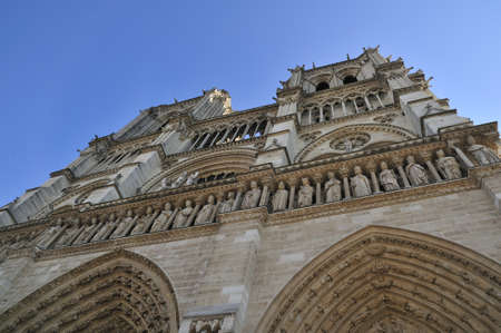 Notre Dame de Paris is a big Gothic cathedral Stock Photo - 13002646