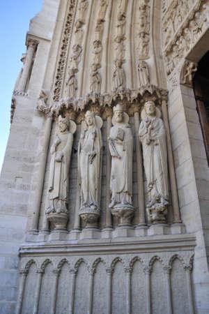 Notre Dame de Paris is a big Gothic cathedral Stock Photo - 13002466